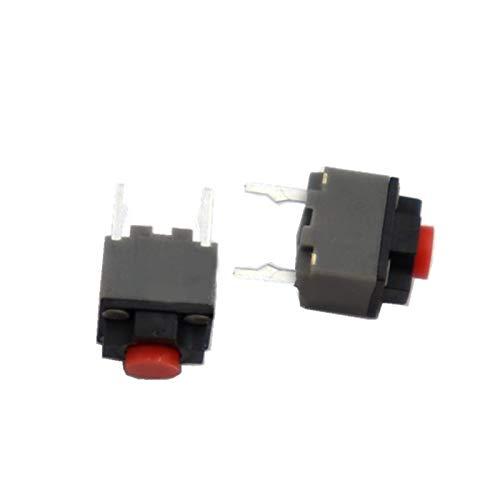 JSJJAES 10pcs 6 * 6 * 7.3mm Duradero Micro Mute Button Switch Silent Mouse Interruptor de ratón Hecho de plástico