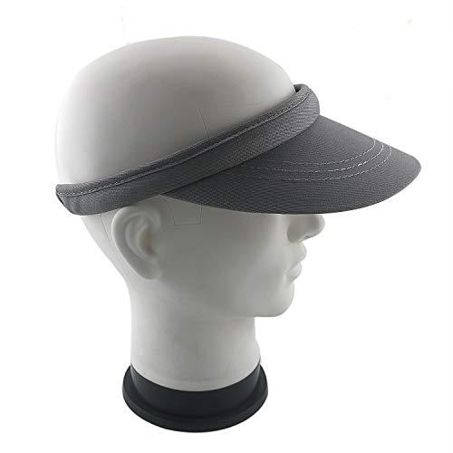 FUCNEN Unisex Visoren Hüte Sonnenschild Damen Sport Cap mit Schirm Robuste Konstruktion Baumwolle für Golf Tennis Radfahren Angeln Laufen Joggen Fahren Mnner Frauen Geschenk (Grau)