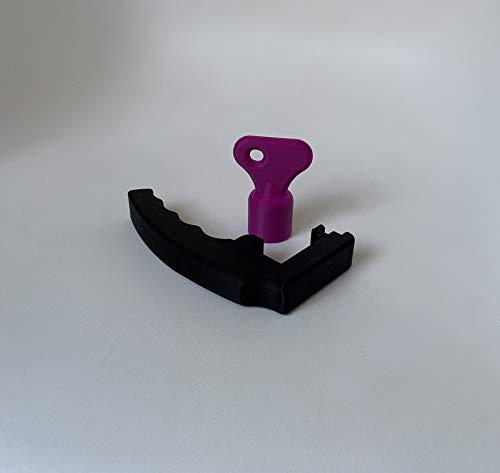 3DJunkies Juego de mango extraíble V3 para Lidl Monsieur Cuisine Connect (negro) y amasadora lila