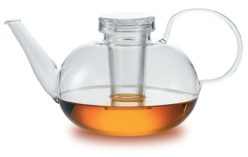 Jenaer Glas Wagenfeld Collection Glass Teapot with Lid and filter , 1500ml
