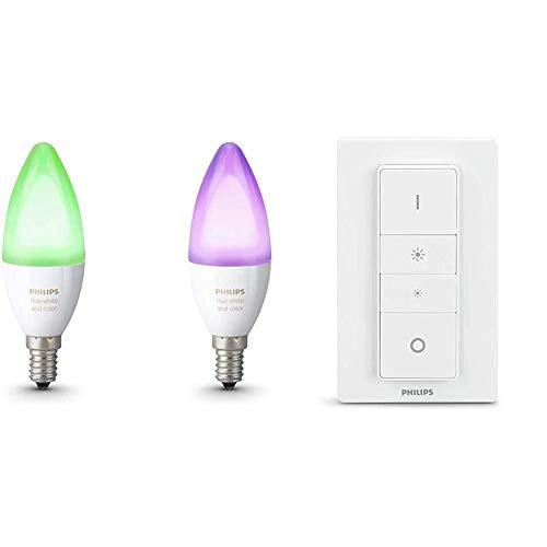 Philips Hue Lot de 3 Ampoules Connectées White and Color Flamme E14