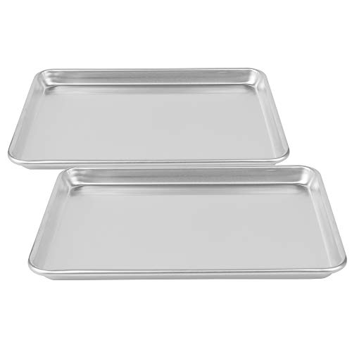 SAJA LIFE 16 x 11inch Mega Baking Sheet Set Of 2,Natural Aluminum Baking Pans Set for Baking Pan