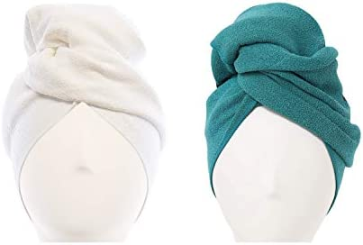 AQUIS Original Hair Towel Set of 2 Ultra Absorbent Fast Drying Microfiber Towel for Fine Delicate product image
