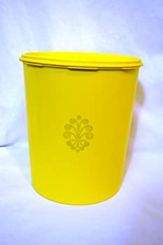 Vintage Tupperware Yellow Servalier 25 Cup Maxi Storage Canister