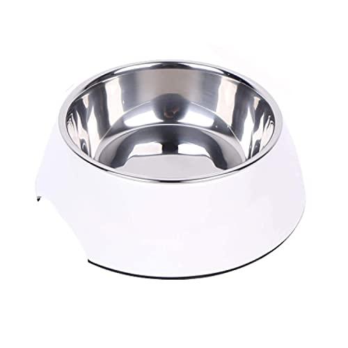 DDOXX Fressnapf, rutschfest | viele Farben & Größen | für kleine & große Hunde | Futter-Napf Katze | Hunde-Napf Hund | Katzen-Napf Edelstahl-Napf | Melamin-Napf | Weiß, 350 ml