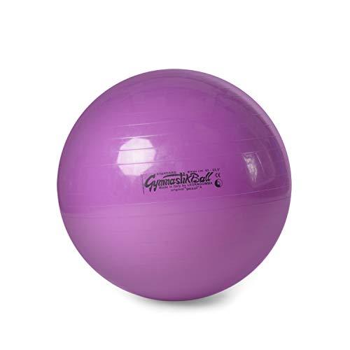 Pezzi Gymnastik Ball Standard 65 cm Therapie Sitzball Fitness violett