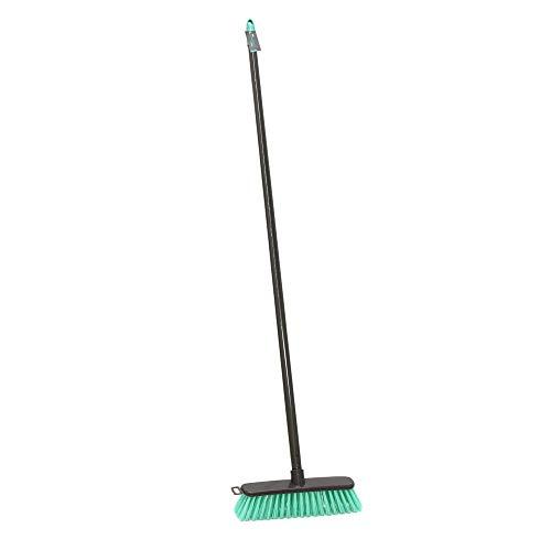JVL Cepillo de cerdas duras Ligeras para Exteriores, Verde Azulado,