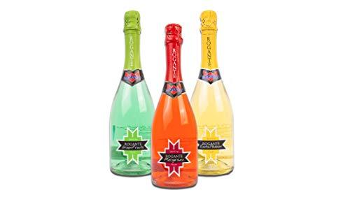 Rogante Degustazione 3 Bottiglie Aperitivo Spumante Fruttato 0,75L - Idea Regalo