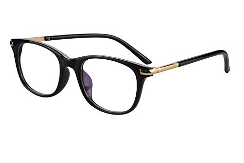 SHINU Horn Rimmed Readers Progressive Multifocus Computer Reading Glasses-SH017(Black,x2)
