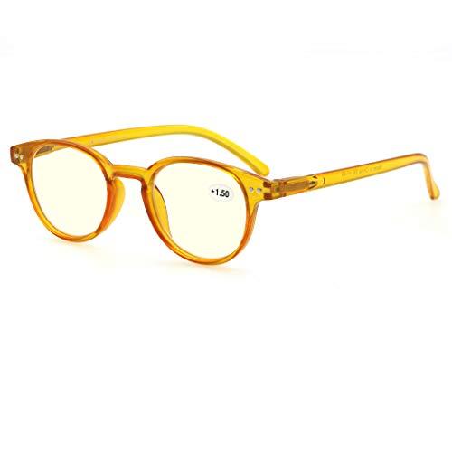 MODFANS Gafas de Lectura 0.5 Anti luz Azul/Gafas de Ordenador para Hombres...