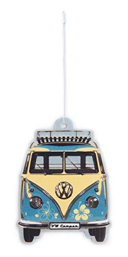 BRISA VW Collection - Volkswagen Luft-Erfrischer, Duft-Spender, Duft-Baum fürs Auto/KFZ mit VW T1 Bulli Bus Frontmotiv (Pina Colada/Türkis)