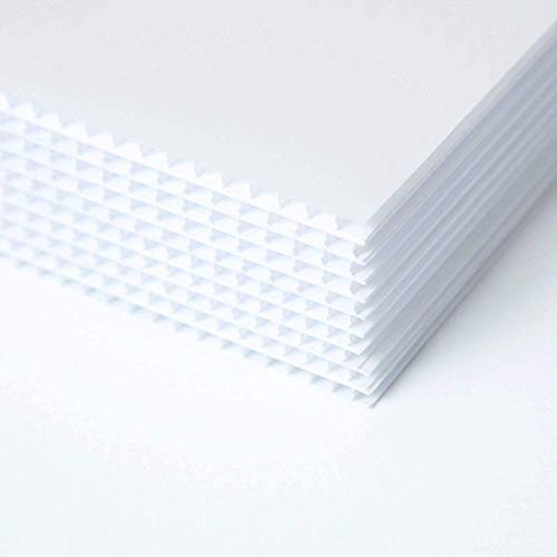 10 Pack 18x24' Corrugated Plastic Sign Blank- White