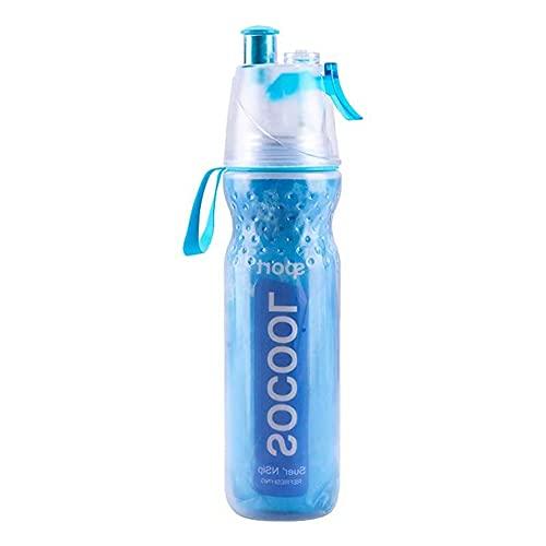 KinSanCup Botella de Agua en Aerosol Botella de Agua Multifuncional Aislamiento enfriamiento Viajes Hombres y Mujeres Estudiantes Deportes Entrenamiento Militar Fitness Gran Capacidad