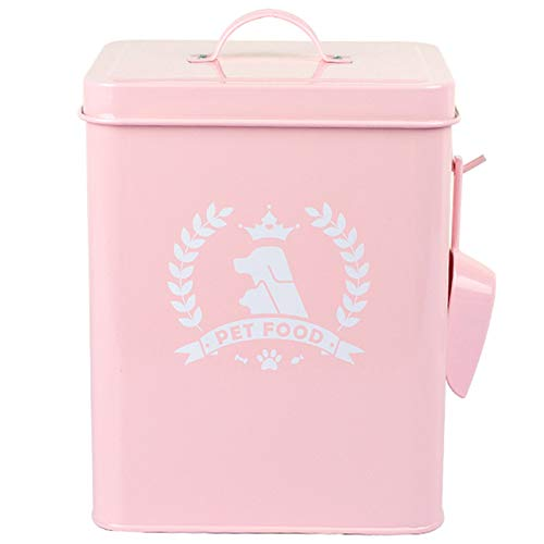 Basage Rosa 4-5L Versiegelt Gl?Ser Tier Futter Vorrat F?Sser, Sch?Dling Bek?Mpfung und Formbest?Ndig Hund Katzen Futter Dosen Gl?Ser