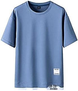 Fbnzmluqdx Tshirt for Men Fashion Brand Hip Hop Men T-Shirts Summer Men's T Shirt Casual Solid Tshirts Street Brand Clothi...