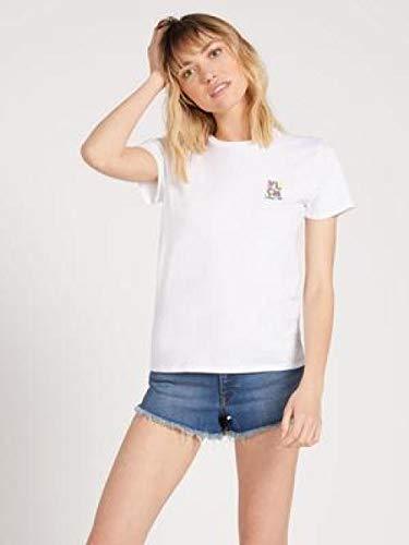 Volcom Simply Daze tee Camiseta de Manga Corta, Mujer, White, L