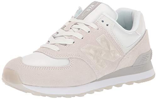 New Balance 738791-50 574 Damen Sneaker aus Veloursleder herausnehmbare Sohle, Groesse 37, Offwhite