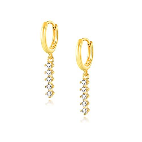 XQAQW Pendientes de Cobre para Las Mujeres joyería Simple Color Oro Vintage Colgante -Gold_Color-22