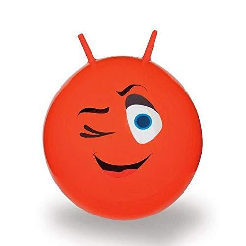 Jamara 460460 Hüpfball Eye - bis 50 kg, fördert den Gleichgewichtssinn und die motorischen Fähigkeiten, robust und widerstandsfähig, pflegeleicht, rot