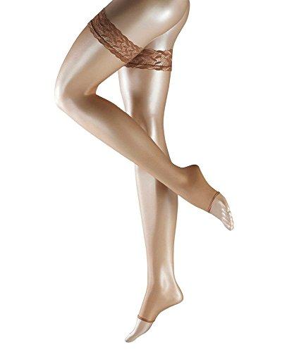 FALKE FALKEDamen Damen Shelina Toeless 12 DEN Stay Ups – Ultra-Sheer, mehrere Farben, S bis L, 1 Paar – rutschfest, ohne Zehen, ideal für offene Schuhe Gr. Large (10.5-11), hautfarben