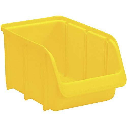 hünersdorff Sichtbox / Stapelbox / Lagerbox in Größe 3, stapelbar, Farbe: Gelb