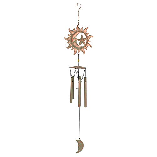 Rustic Sun and Moon Windchime