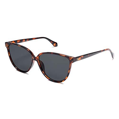 SOJOS Gafas de sol clásicas de gran tamaño, diseño de cateye vintage, UV400, SJ2096