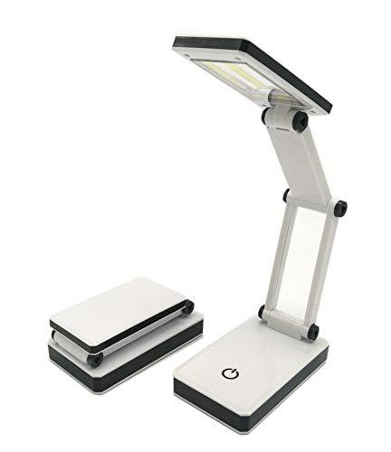 Mobile COB LED Lampe Schreibtischlampe klappbar 3 Helligkeitsstufen ideal für unterwegs