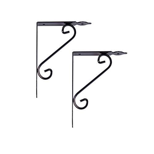 YXB Koudgewalste stalen bloemensteun, belasting 10kg~30kg, uniek gebogen patroon, kan worden ingericht of geplaatst, zwevende beugel, plank muurbeugel, geschikt voor TV rek, boekenplank, vouwkruk, wor