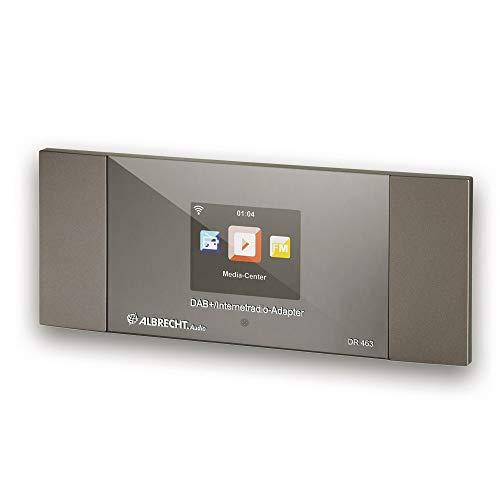 Albrecht DR463, 27463, Internetradio/DAB+ Adapter zum Nachrüsten von Radios und Stereo-Anlagen, empfängt Musik über WLAN, DAB+, Bluetooth®