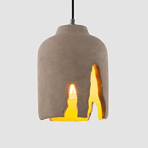 GYPPG Lámpara Colgante Industrial Diseño incompleto Vintage, Lámparas Colgantes rústicas para lámparas E27 MAX.Lámpara Colgante de Techo de 60 vatios para Comedor, Barra de Bar, Isla de