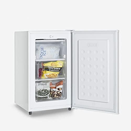 UNIVERSALBLUE Congelador Bajo Encimera | Congelador Pequeño | Arcón Congelador Vertical | Volumen 73 litros