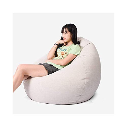 Sofá perezoso Sillas de frijol bolsa for adolescentes Lazy Sofá cama, silla de respaldo alto lavable portátil al aire libre cubierta adecuados for los juegos AAA (Color: azul oscuro, tamaño: 100 x 120