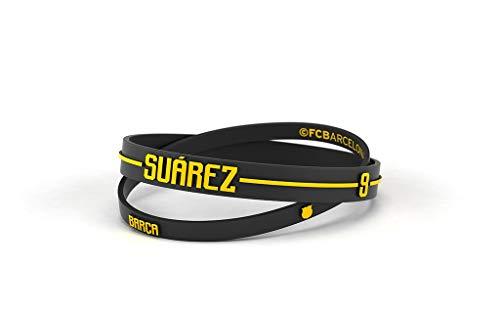 Pulsera Luis Suárez Fútbol Club Barcelona Junior para Mujer y Niño | Pulsera Barça de silicona primera equipación | Apoya al FCBarcelona con un producto oficial culé |FCB