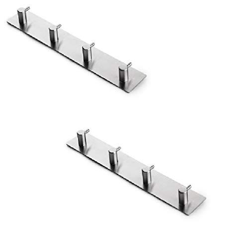 SUS304 Acciaio inossidabile 2PCS senza perforazione, facile da installare, facile da pulire, facilmente pulito, semplice e alla moda con gancio a parete Ideale per il Si adatta su la superficia