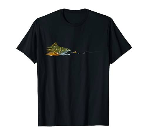 Fly Fishing Brook Trout Dry Fly Tying Fisherman T-Shirt