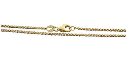 Hobra-Gold 80 cm Silberkette 925 vergoldet - Kette Silber Himbeerkette Goldkette Halskette