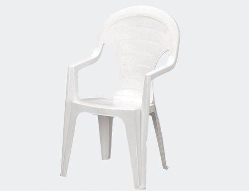 Jardin 142668 Stapelsessel Bonaire, Vollkunststoff 55.5 x 57 x 92 cm, weiß