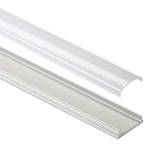 3 x biegsames LED Profil-42 Aluminium eloxiert 2000 x 17 x 5 mm mit opaler Abdeckung für LED Stripes bis 12 mm Breite Aluminiumprofil Profilleiste Aufbauprofil von SO-TECH®