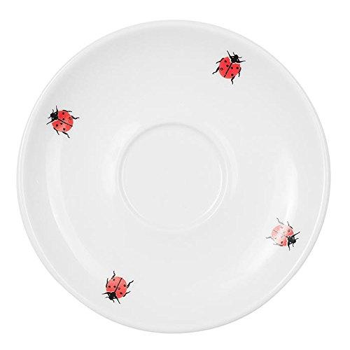 Feinkost Käfer Geschirr, Porzellan, Weiß/rot, 12 x 12 x 2 cm, 6-Einheiten