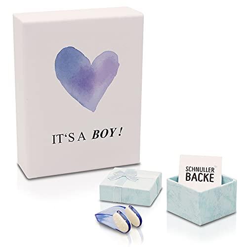 Nasenklammer zum Windeln wechseln - Süßes Geschenk zur Geburt & Lacher auf jeder Babyparty - Geschenkidee für werdende Mama und Papa - Zur Geburt und Schwangerschaft des neugeborenen Babys - Junge