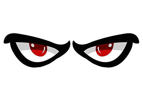2X MANIAC Eyes Sticker Manische Augen Aufkleber 1 Paar Auto Motorrad Helm Mofa Roller Waschanlagenfest