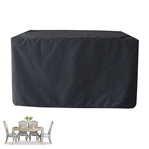 XGG Garden Table Covers Waterproof Furniture Cover, Patio Furniture Covers 210D Heavy Duty Oxford Fabric Cube Set Table Cover for Patio, Outdoorsquare 61 * 37.40 * 26.77in