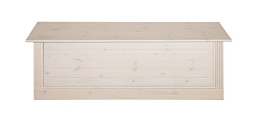 Steens Monaco Commode de Lit, Bois, Blanc, 42 x 145 x 47 cm