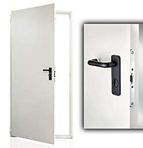Puerta fabricada en chapa de acero galvanizado - Barnizada - Reversible - Todas las medidas