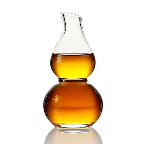 Décanter, Classique Gourd Forme Vin Rouge Carafe & Accessoires, Whisky Carafe - Élégant Italienne Crafted Verre À Vin Bouteille Decanter - Idéal For Brandy Liqueur, Bourbon, Eau, Jus, Et Des Cadeaux W