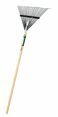 Truper 30480 Tru Tough Steel Leaf Rake, 24-Inch Head, Wood Handle, 54-Inch