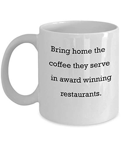 Llévate a casa el café que sirven en restaurantes galardonados Regalos para el día de la madre Tazas divertidas y novedosas de regalo de 11 oz