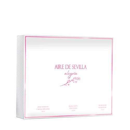Aire de Sevilla Alegría - Set Perfume para Mujer Edt, Gel de Ducha e Hidratante Perfumadas