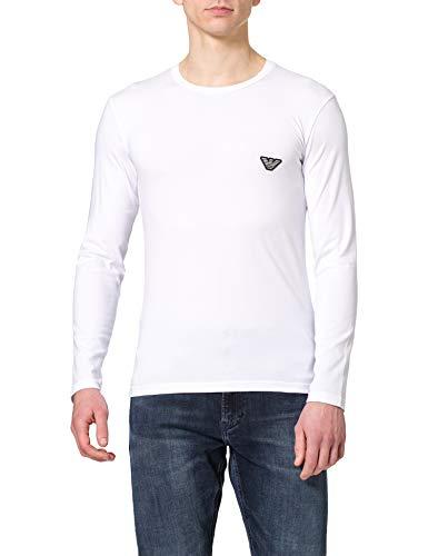 Emporio Armani Underwear T-Shirt Shiny Logoband Camiseta, Blanco, M para Hombre